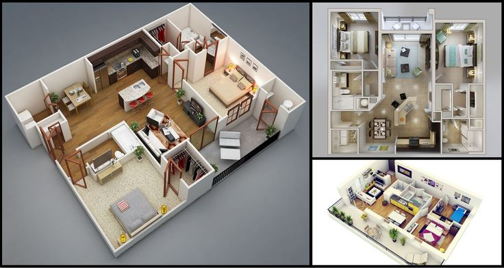 50 two 2 bedroom apartment house plans home plans for Home design 50m2