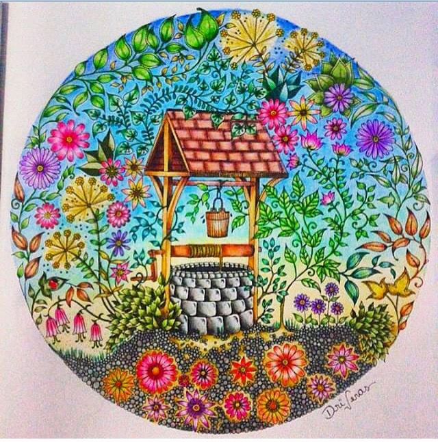 Adult Coloring Books Colouring Secret Gardens Prismacolor Garden Book Shading Techniques Johanna Basford