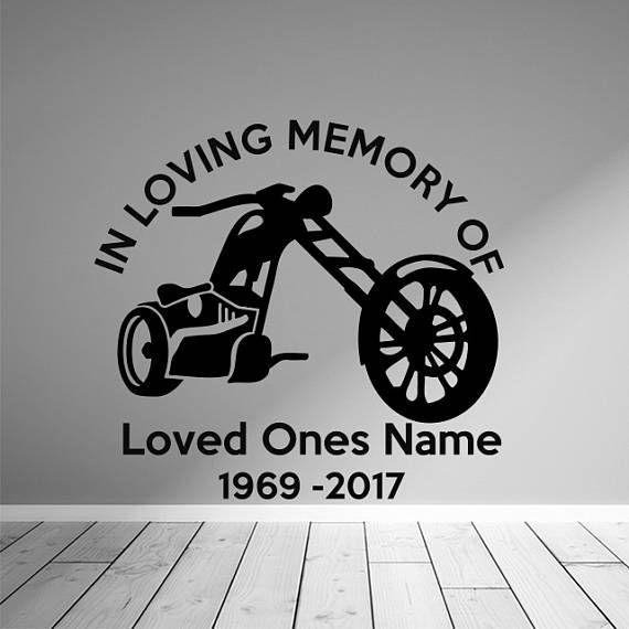 Biker memorial window decal biker memorial sticker memorial