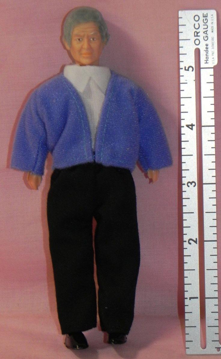 Dollhouse Miniature Doll Grandfather Vinyl Town Square #00068 1:12 Scale | eBay