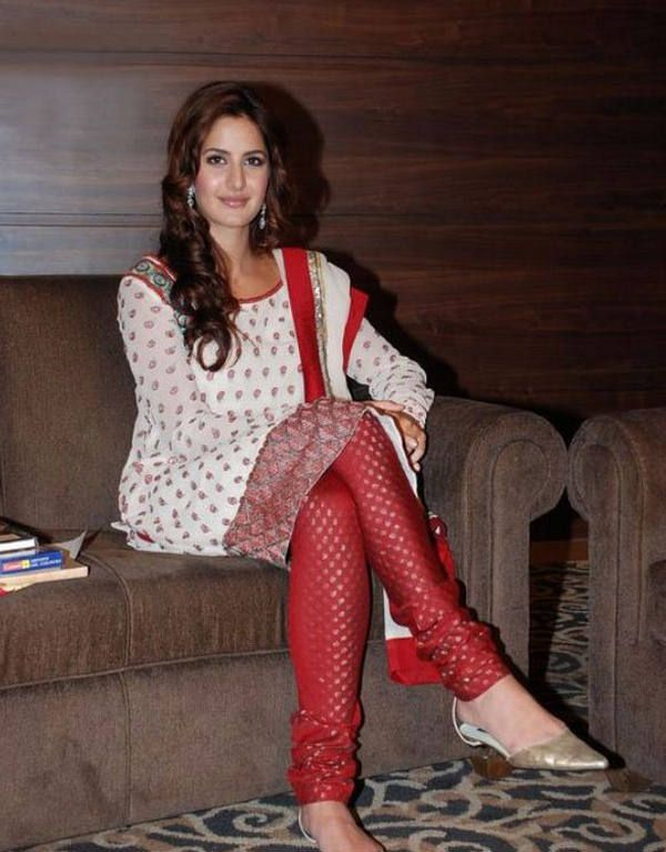 Katrina: legs that go on for ever.