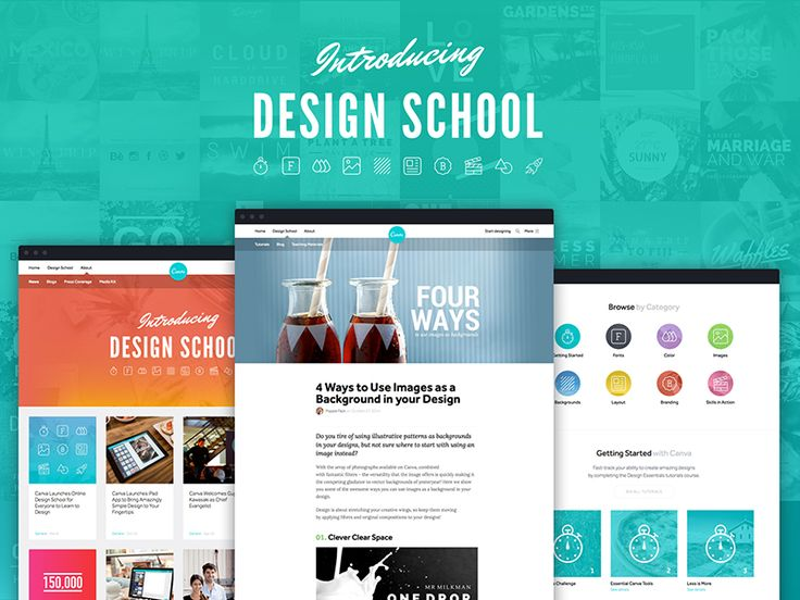 Just launched the new Canva Design School website. http://designschool.canva.com. Check the site for daily design articles, interactive tutorials and awesome tips. We're excited to hear what you th...