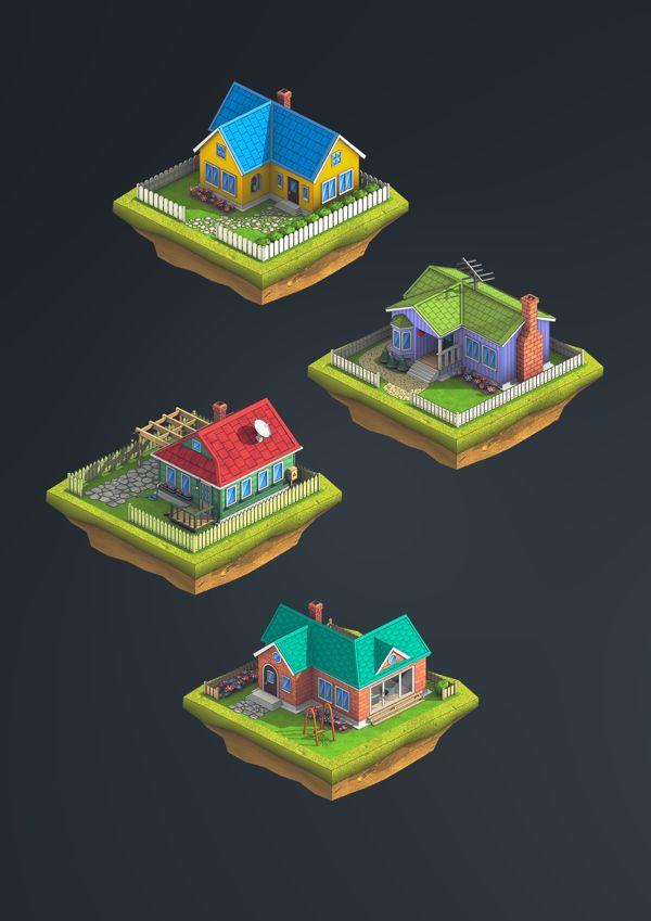 Isometric graphics: City Island 2 on Behance