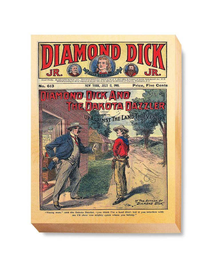 WES 023 Western Comic Cover Diamond Detective