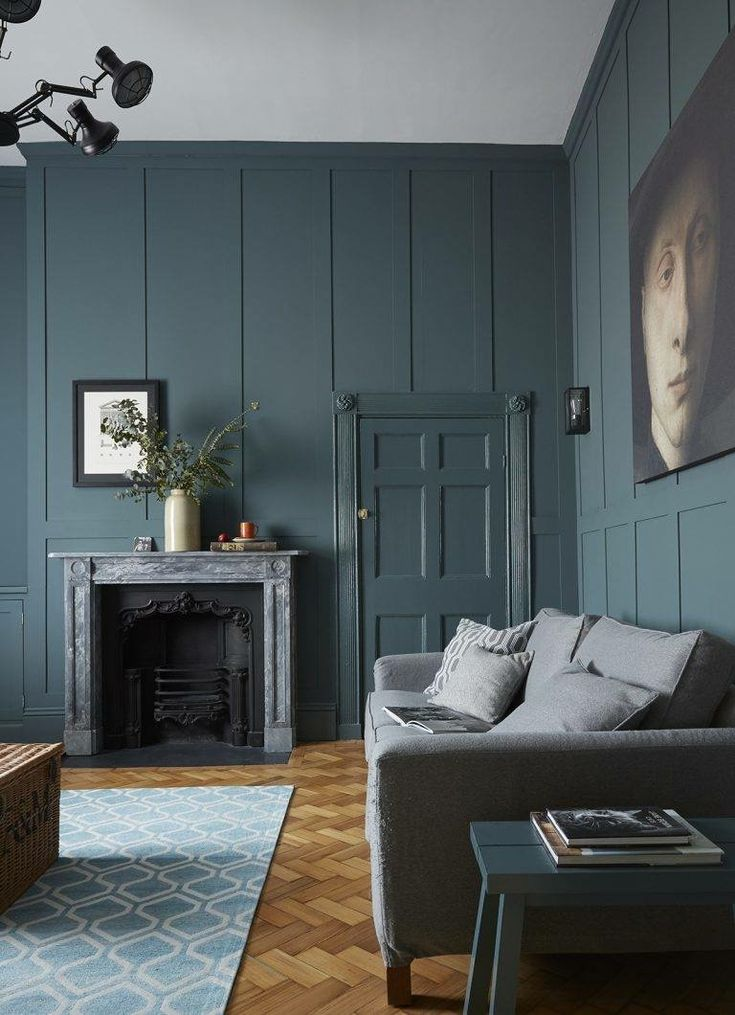 Farrow And Ball Inchyra Blue Grey Walls Living Room