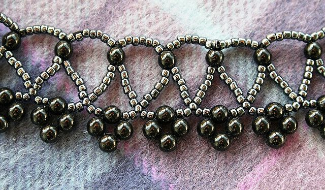 Bead weave victorian choker necklace | Flickr - Photo Sharing!