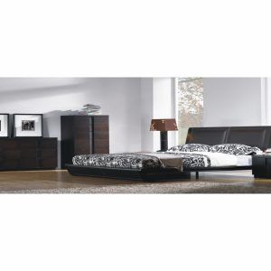 Jenny Chocolate Leather Bedroom Set