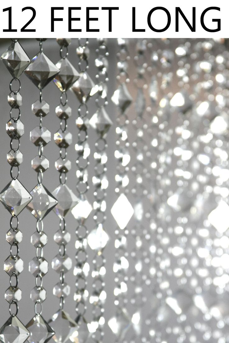 Bead curtain crystal partition curtain finished product crystal bead - Aces And Eights Beaded Curtain Crystal 3 Ft X 12 Ft