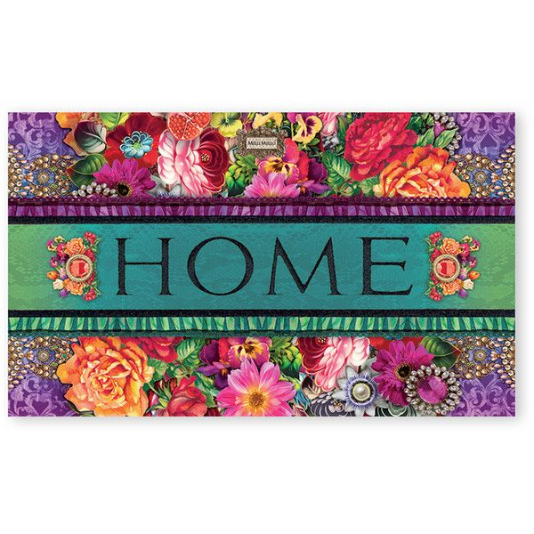 melli mello eco mat eliza design 45x75cm 32 liked on polyvore - Rubber Door Mat