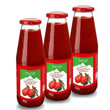 Passierte San-Marzano-Tomaten, 3 x 580 ml Glas