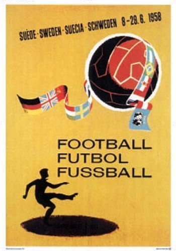 Official World Cup Poster - Sweden 1958 Signed Medwin   eBay