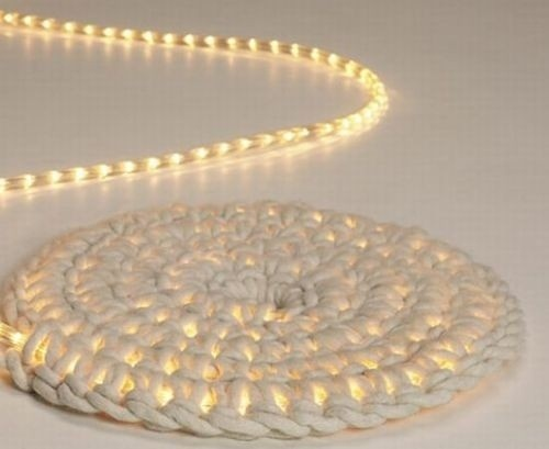Crocheting Rope : Crochet around rope light. Making this! Crochet!! Pinterest