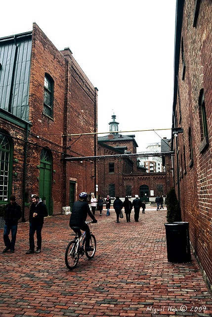 Distillery District #Toronto #Distillery. Permeable pavers between buildings.