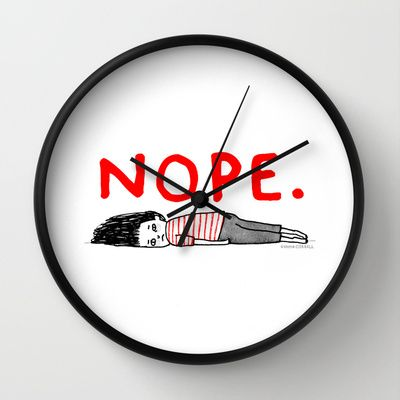 This could be the perfect clock for teens room.     Wall Clock by Gemma Correll - $30.00
