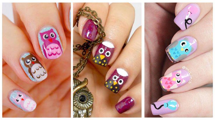 Más de 40 fotos de uñas decoradas con Búhos | Decoración de Uñas - Nail Art - Uñas decoradas