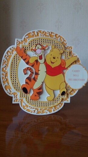 Used Tonic Twisting Veranda dies for base and layers. Card made for my Pooh Bear mad grandson !