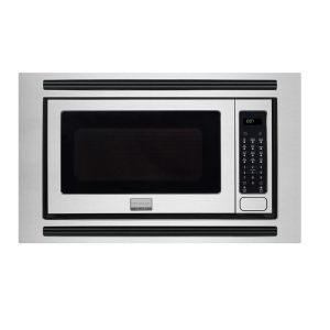 Frigidaire Gallery Cubic Foot Built-in Microwave:  This is a smart microwave that is best for heating out leftover. Whenever you're in the mood for a midnight snack, simply press the reheat button and the oven will decide how much heating is needed. The exterior is stainless steel, smudge proof and look beautiful in any corner of the kitchen.