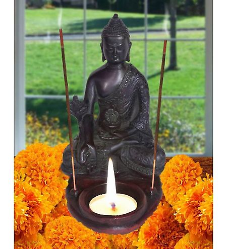 Home Sparkle Buddha Incense Sticks and Candle H...
