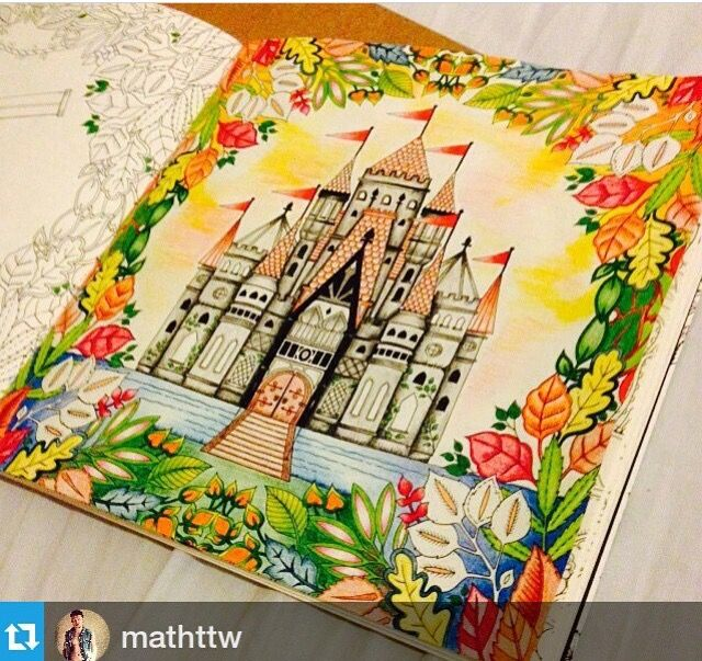 Castle Leaves Enchanted Forest Castelo Floresta Encantada Johanna Basford BasfordColouringColoring BooksAdult