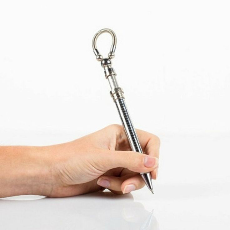 Fidget silver stress EDC think ink Pen