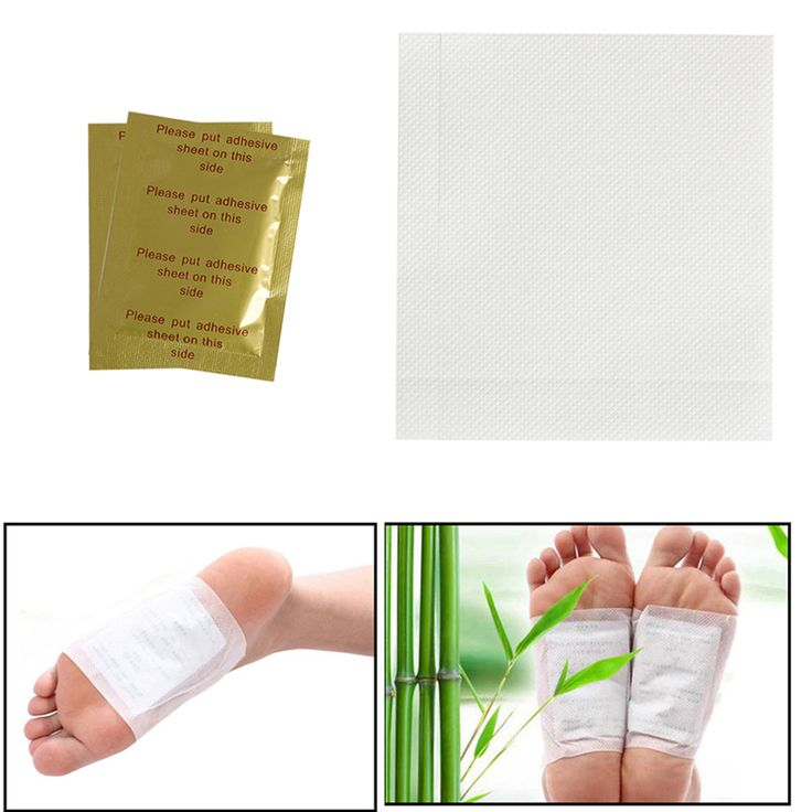 1Pair New Kinoki Detox Foot Patches Pads for Herbal Detoxification Cleansing Weight Loss Toxin Removal Hot