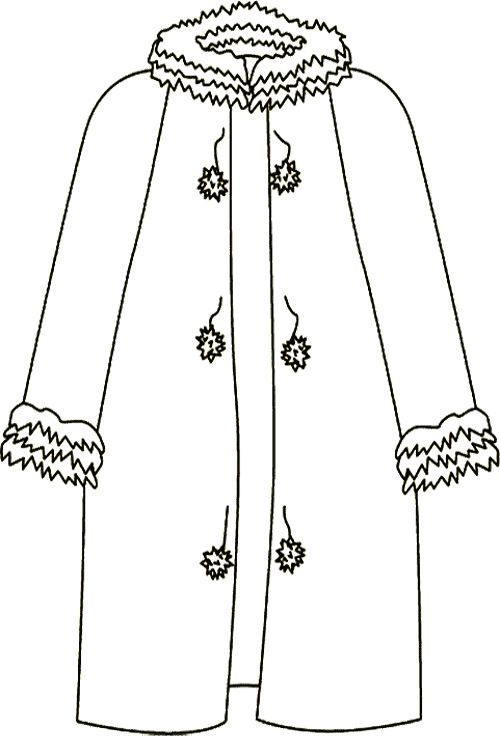 coloring pages of winter coat - photo#29