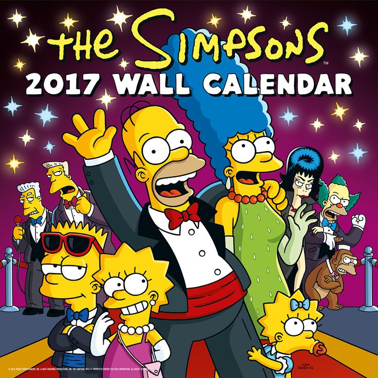 New Official The Simpsons 2017 Calendar available with FREE UK P&P (plus worldwide delivery available) at http://bit.ly/TVCals2017