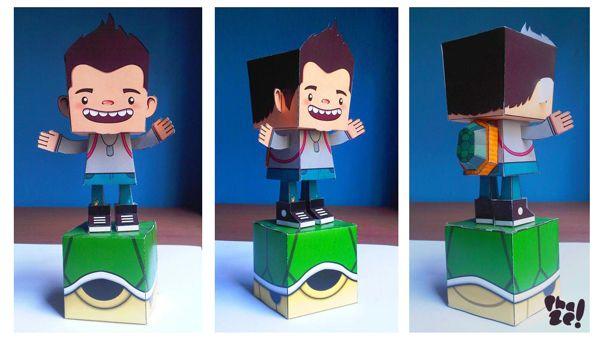 Paper toy - Gigio by Cristina Sánchez, via Behance