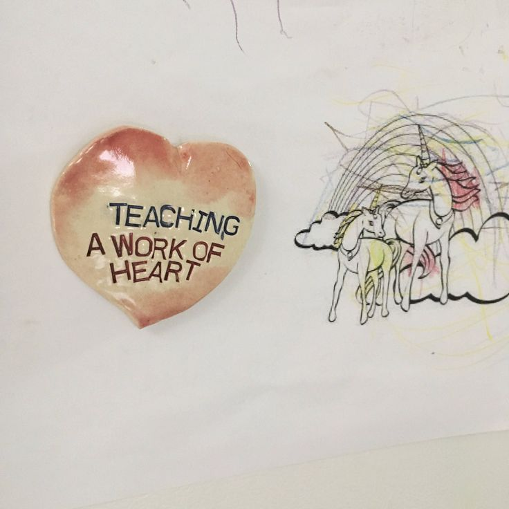 Fridge Magnet. Ceramic Magnet. Teachers Magnet. Clay Magnet. Stoneware Fridge Magnet. Gift for Teacher. Unique Teachers Gift. School Year. by FaeGartenClay on Etsy