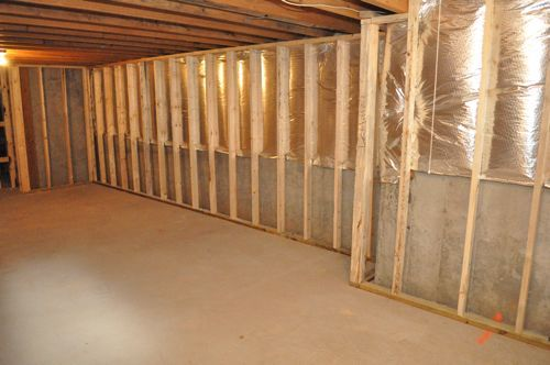 Framed Out the Basement Walls