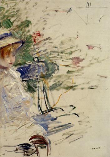 Little Girl in a Garden - Berthe Morisot, 1884