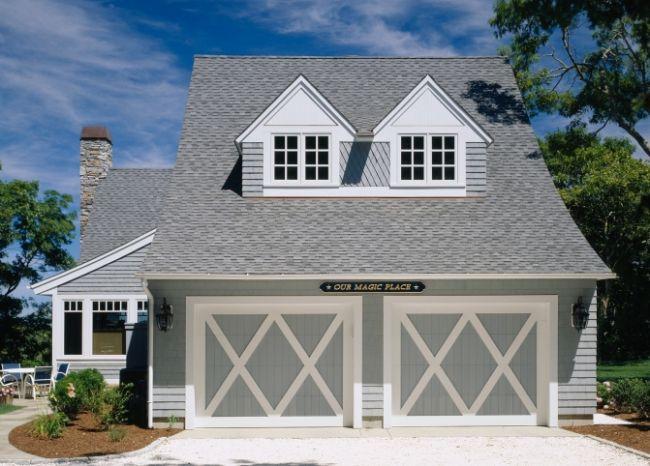 17 best ideas about double garage door on pinterest for Cape cod garage doors