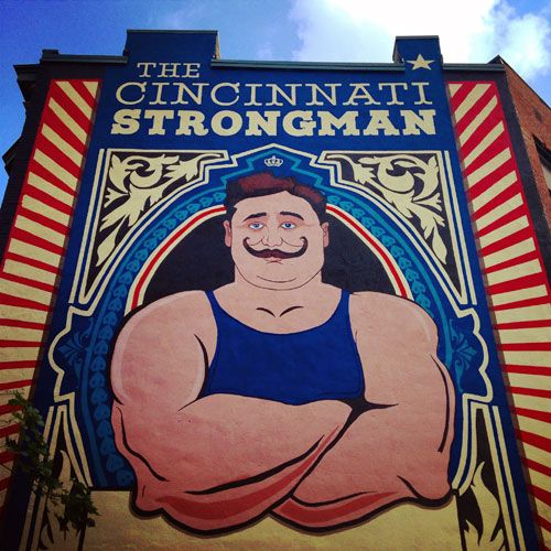 The Cincinnati Strong Man: Henry Holtgrewe mural by Jason Snell
