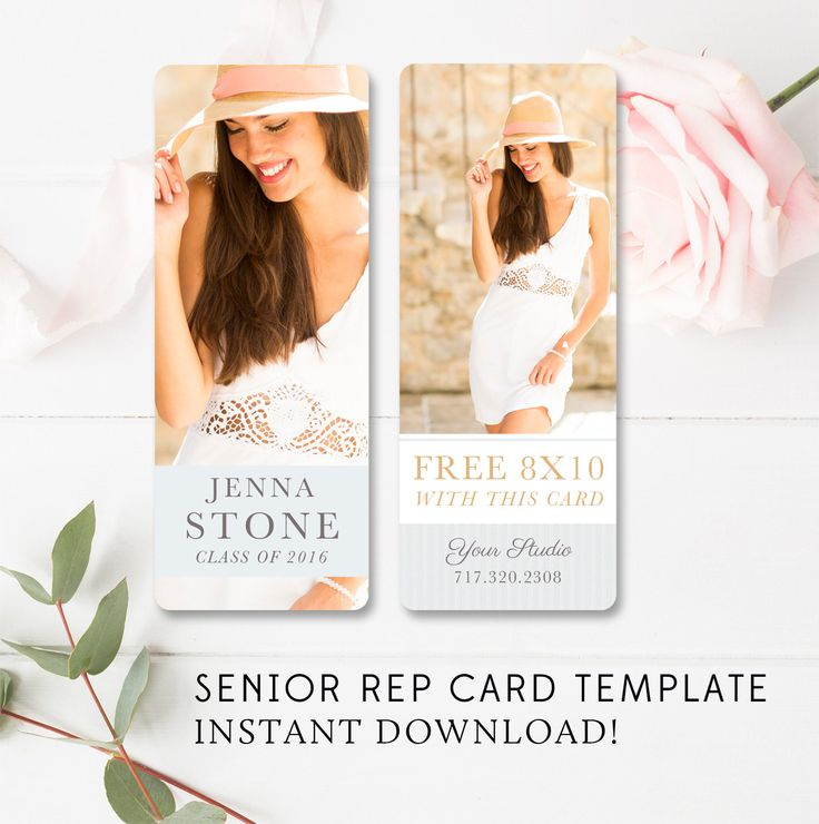 Senior Rep Card Template - Senior Marketing - Senior Photographer Templates - Referral Card - Millers and WHCC - INSTANT DOWNLOAD by ByStephanieDesign on Etsy