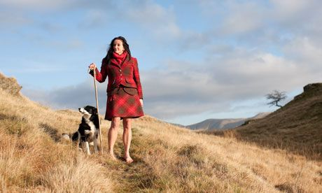 Alison O'Neill walking barefoot in Cumbria, England