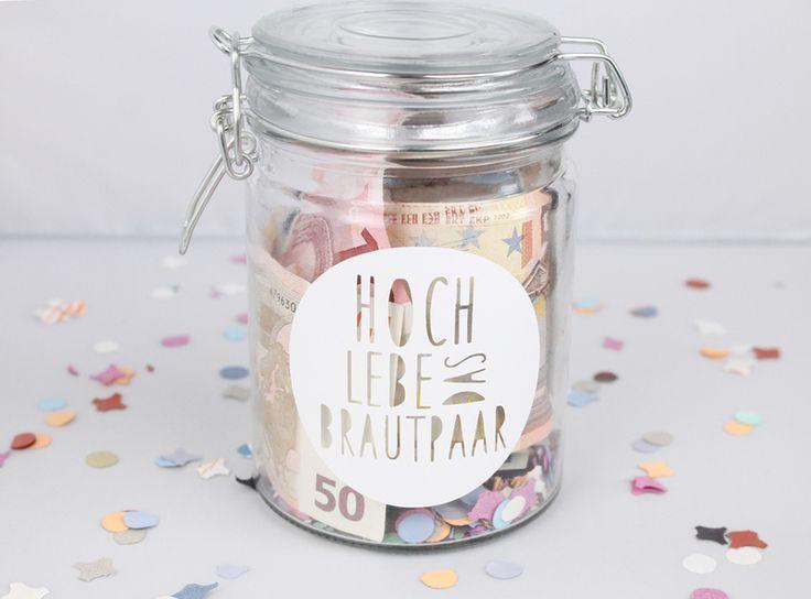 Einmachglas für Geldgeschenk zur Hochzeit // bottling jar for gifting money via DaWanda.com
