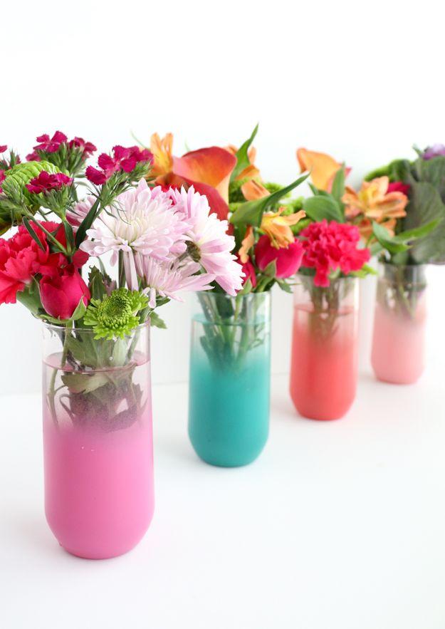 Diy It Ombr Flower Vases Diy Crafts Pinterest Flower Vases
