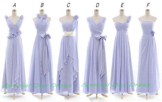 Lavender / light Purple Long Bridesmaid Dress Long Prom Dress Wedding Party Dresses $105.00