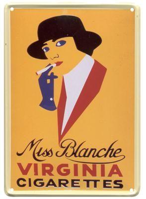 Miss Blanche 20x30 | Blikken borden 20x30 | www.19toen.nl
