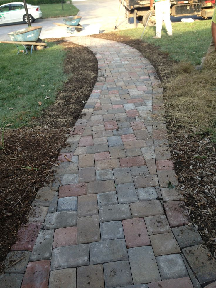 Brick Paver Patio With Fire Pit Cost: Best 25+ Paver Walkway Ideas On Pinterest