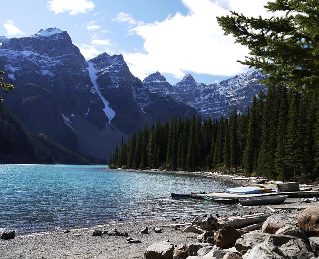 Canada Road Trip Rocky Mountains Moraine Lake Near Lake Louise - Canadas 10 most scenic road trips