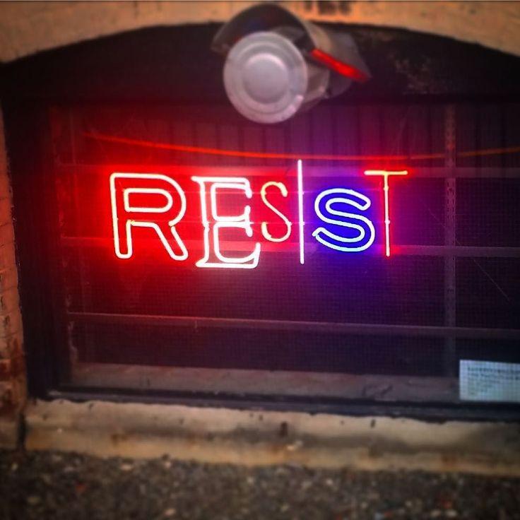 #resist #brooklyn #neon #art #aobff17Original photos posted by The Art of Bklyn Film Festival aobff.org