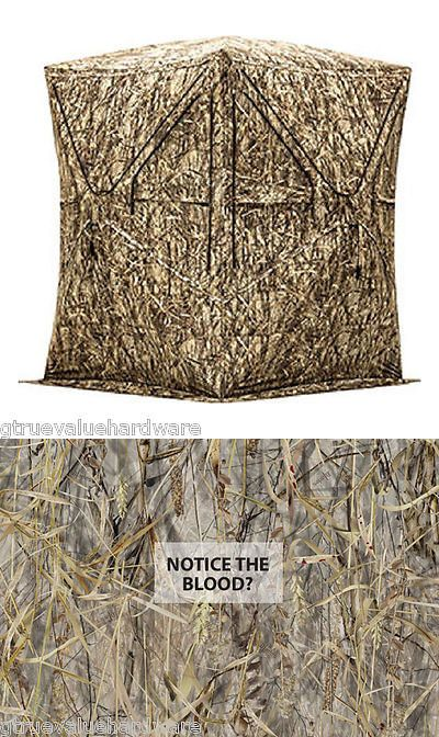 how to make a ground blind for deer hunting