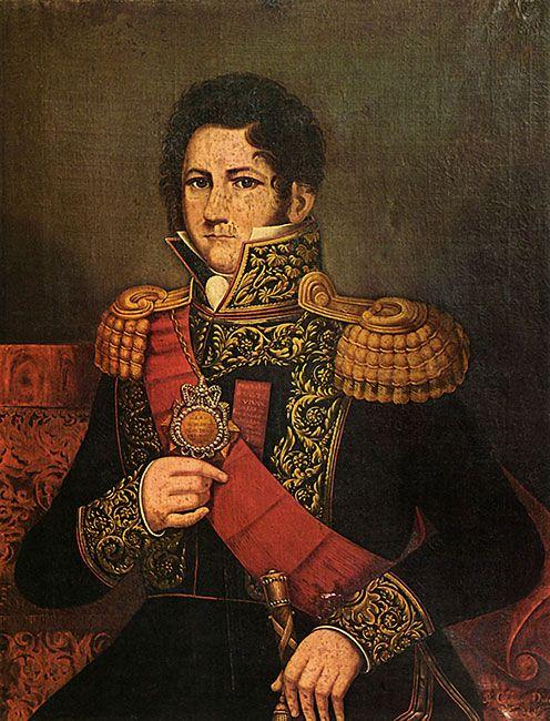 Cayetano Descalzi. Juan Manuel de Rosas, s/d, óleo s/tela, 97,6 x 75,3 cm. Museo Histórico Nacional. Buenos Aires 1835
