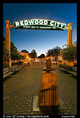 The beautiful gate to Katie's peninsula hometown of Redwood City - climate best by government test.