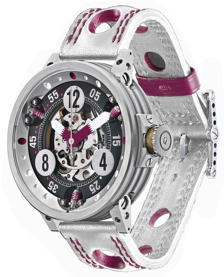 B.R.M. Watch RG-46 Team Qatar #bezel-fixed #bracelet-strap-leather…