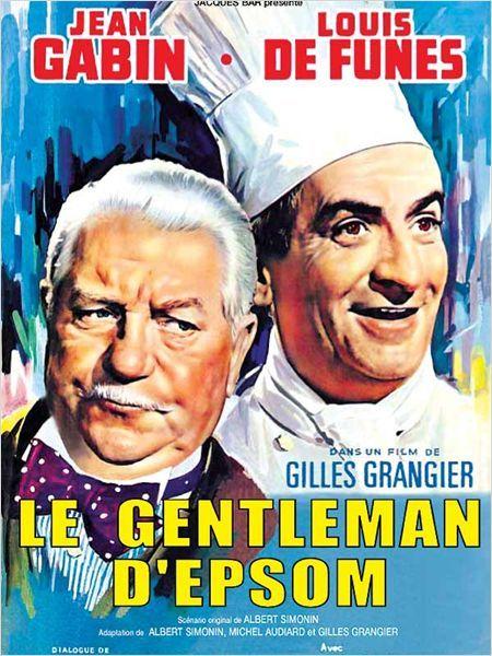 Le Gentleman d'Epsom : affiche Gilles Grangier, Jean Gabin, Louis de Funès