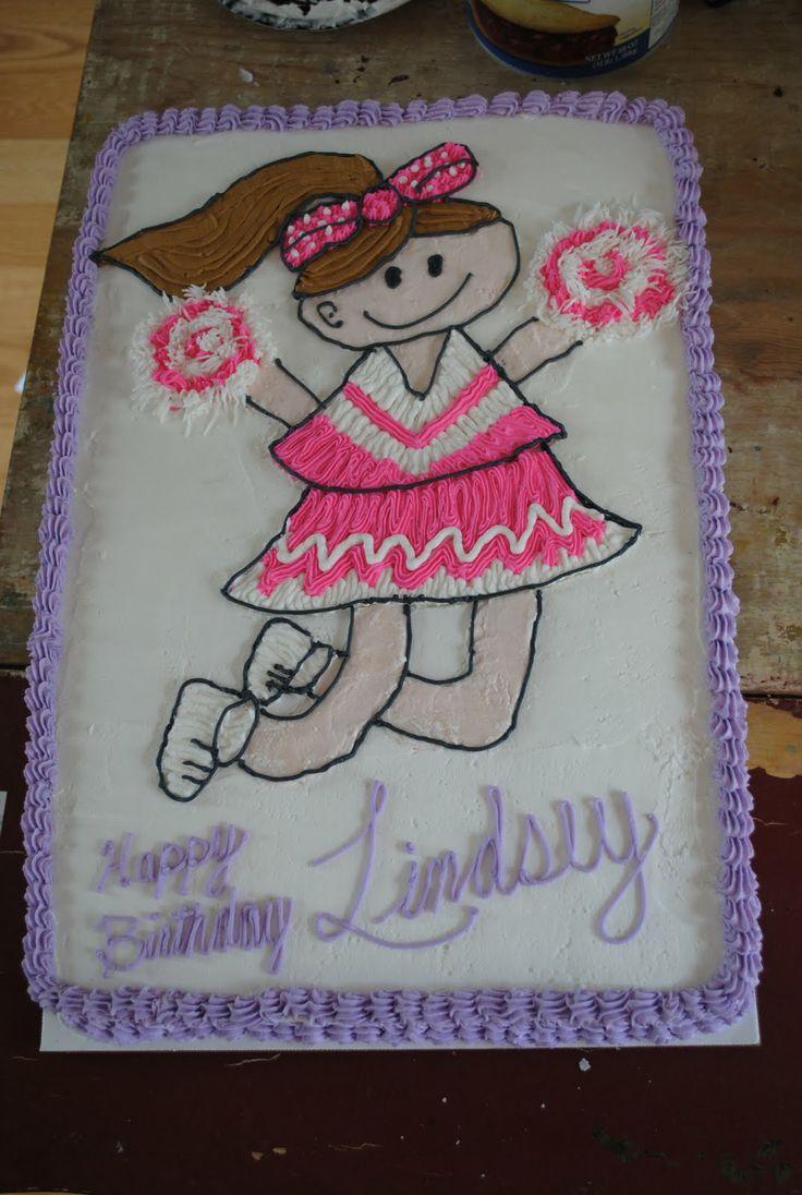 megaphone cake | Sweet Dreams by Sara: Cheerleader Birthday Cake