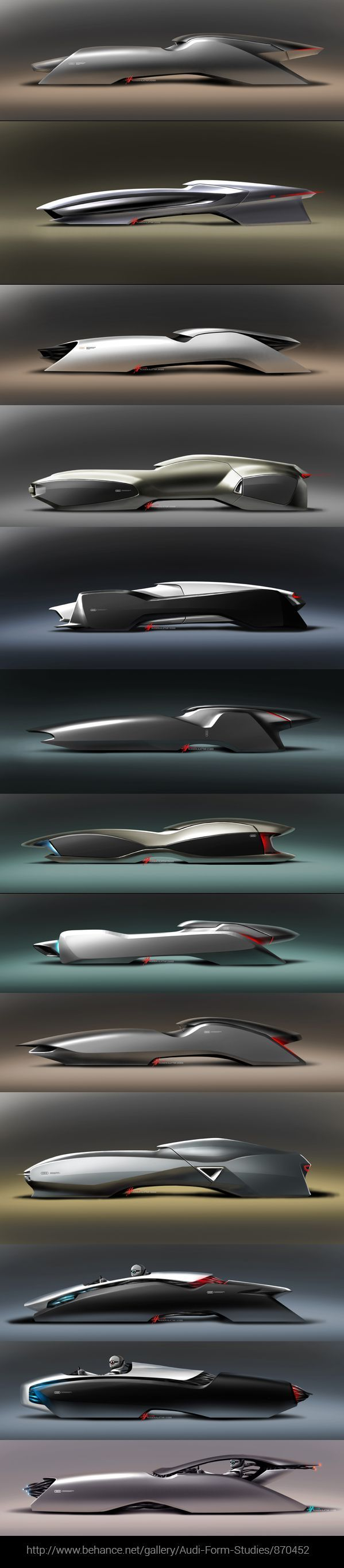 Audi Form Studies/870452 by Hussein Al-Attar - more amazing cars here: http://themotolovers.com