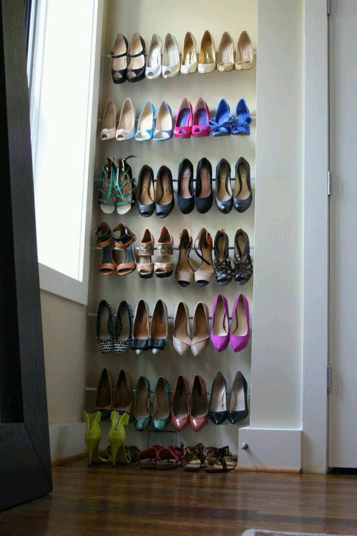 tension rods 8 smart shoe racks you can make today